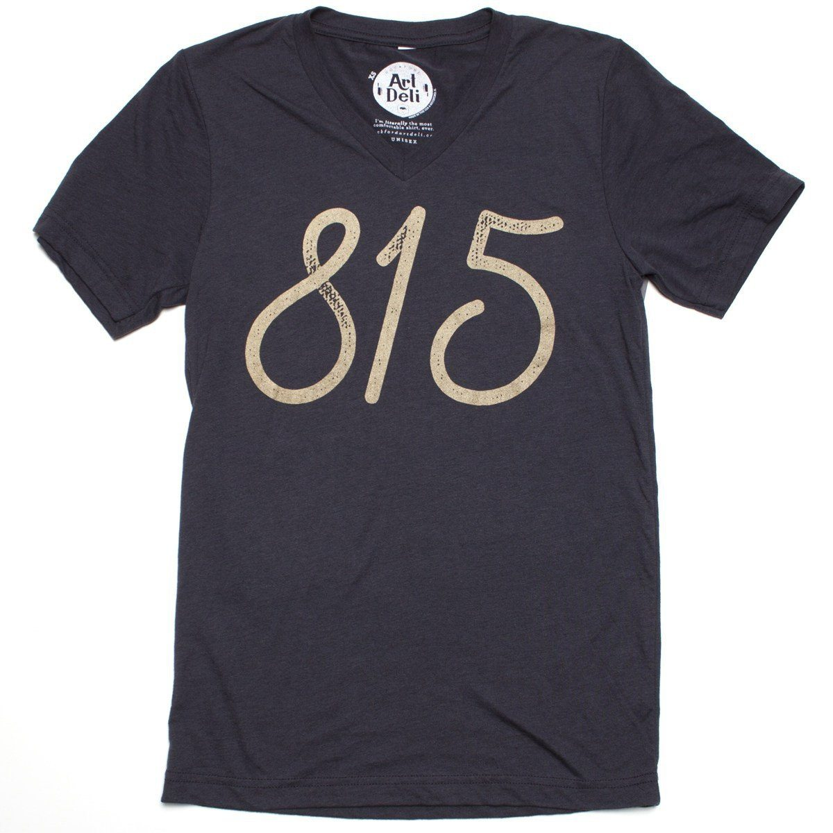 815 Gold V-Neck V-Neck Bella + Canvas