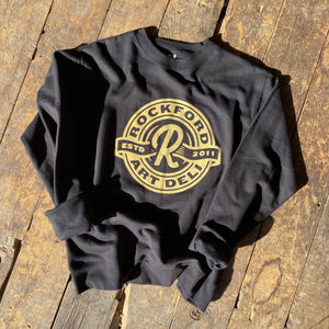 Flying R Crewneck Crewneck Sweatshirt Rockford Art Deli