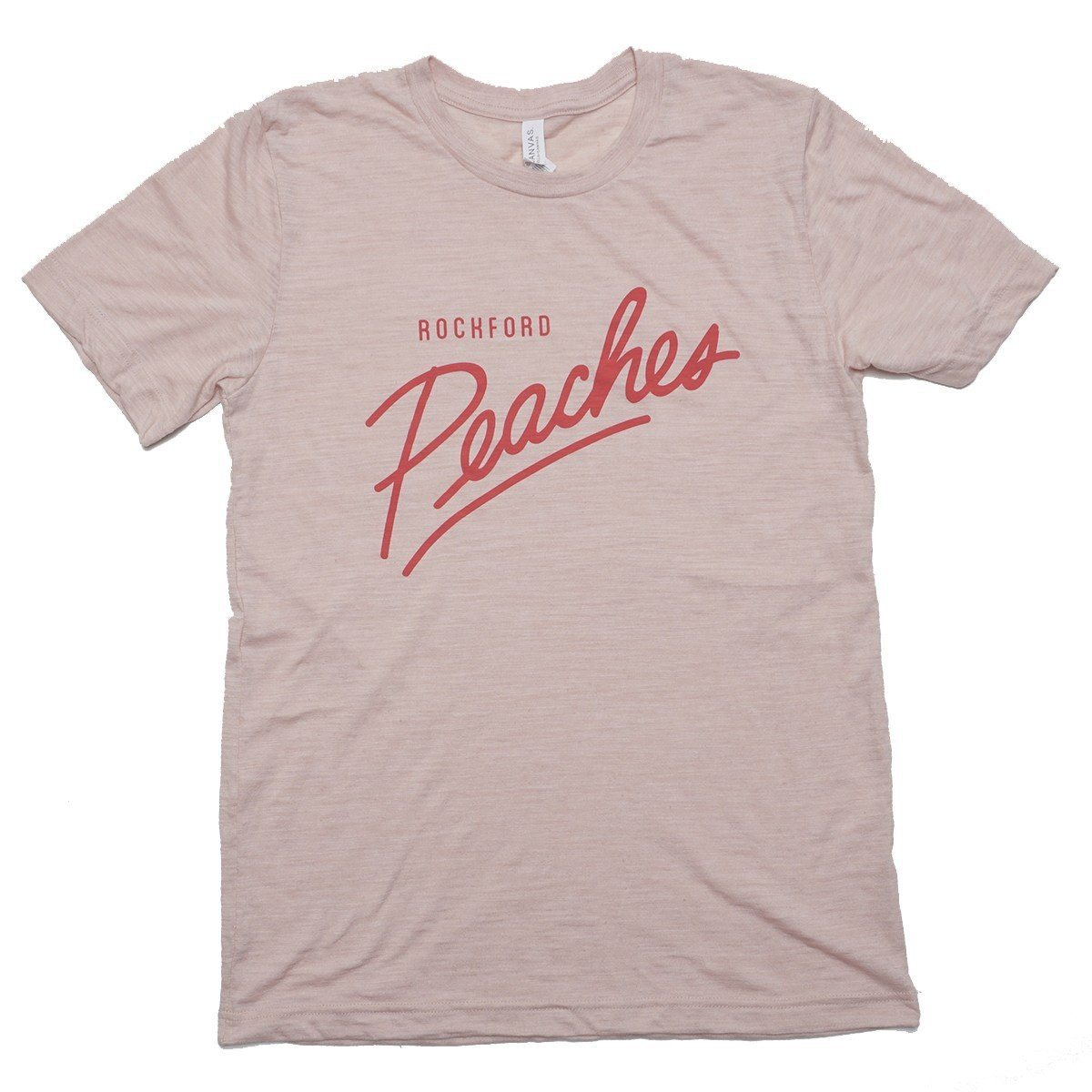 Peach Script T-shirt Bella + Canvas