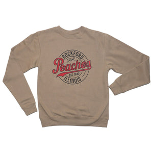 Peaches Logo Crewneck Crewneck Sweatshirt Independent Trading