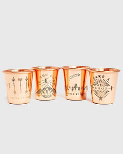 Shot In The Dark Copper Shot Glass Set Drinkware United By Blue