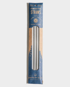 Stainless Steel Straw Pack With Brush Cleaner Drinkware United By Blue