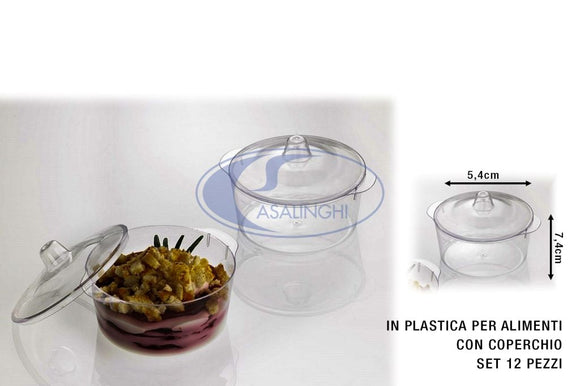 MINI CASSERUOLA SET 12 PZ. C/COP. KRYSTAL PARTY CM.7,4X5,4h