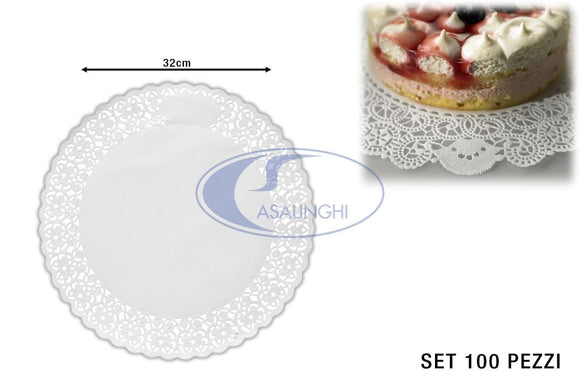 PIZZI SMALTATI SET 100 PZ. CM.32