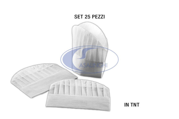 CAPPELLO IN TNT CHEF CM.28,5X24 SET 25 PEZZI