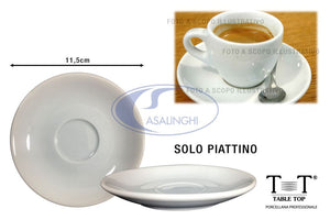 Piattino per caffè in porcellana