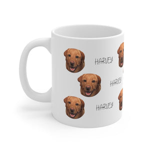 Personalized Dog Mug with Your Dog's Face and Name - Harvey Coffee Company