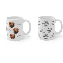 Load image into Gallery viewer, Personalized Dog Mug with Your Dog's Face and Name - Harvey Coffee Company