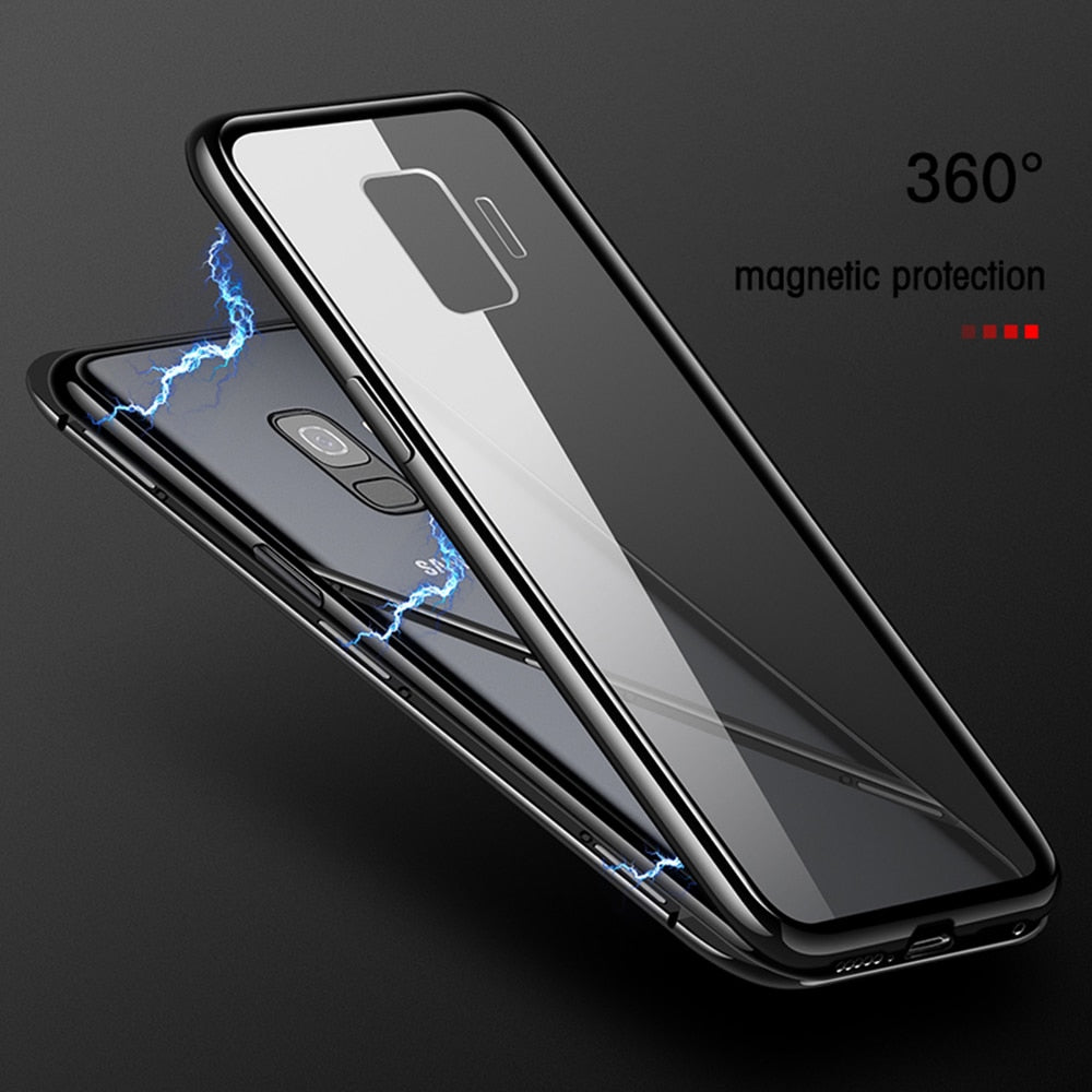 cheaper f2329 31ff0 Luxury Metallic Magnetic Adsorption Phone Case for Samsung