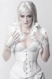 Rozlynn White Waist Training Corset