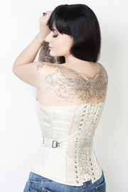Edwardian Brocade Fan Lacing Corset