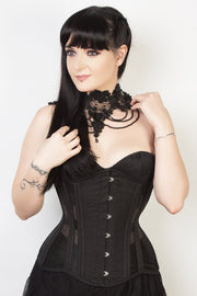 Black Mesh Waist Training Corset