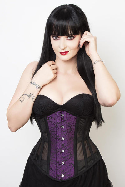 Mesh with Brocade Waist Reducing Corset