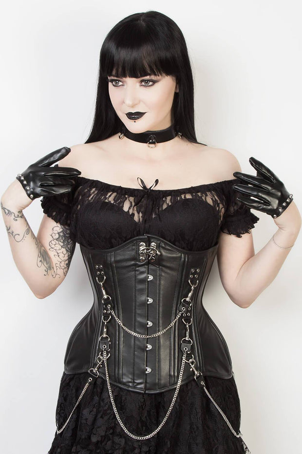 Leather Gothic Waist Training Corset