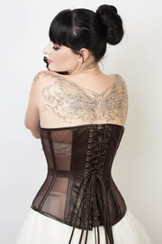 Waist Reducing Gothic Mesh Corset