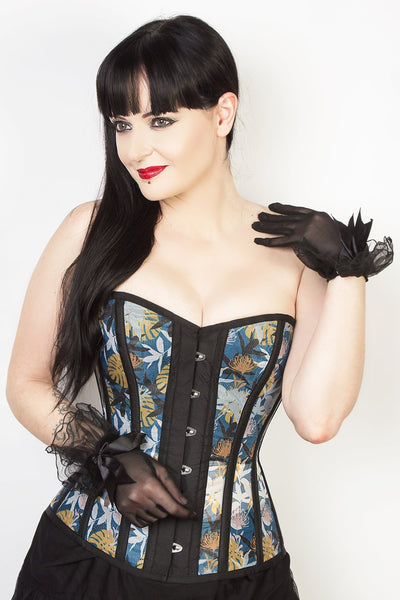 Sweet Heart Printed Mesh Overbust Corset