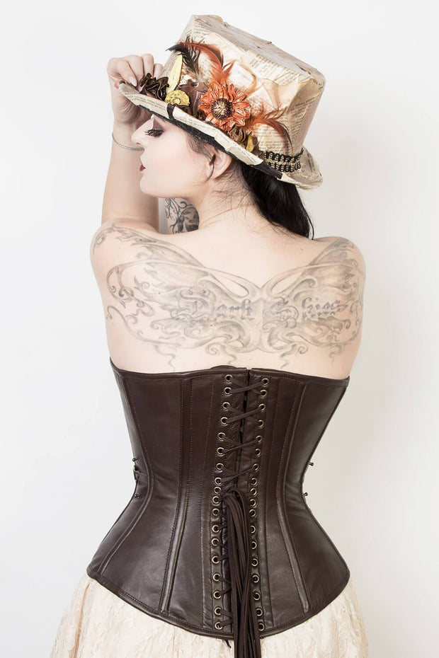 Steampunk Overbust Leather Corset