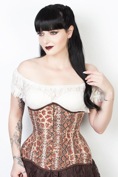 Snake Print Waist Reducing Corset