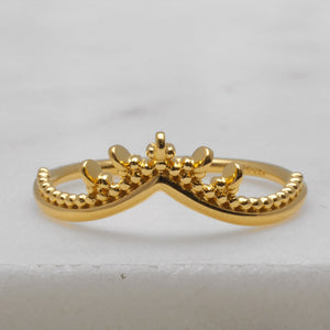 Gold Meridian Ring