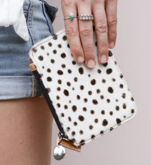 Clover Pouch - Spotted Tan