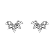 Load image into Gallery viewer, Mehndi Archway Studs - Silver
