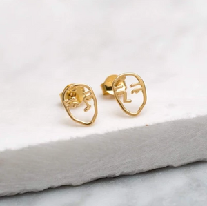 Picasso Studs - Gold