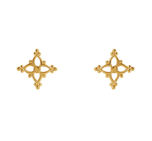 Moroccan Star Studs - Gold