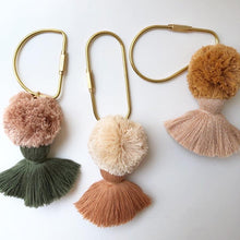Load image into Gallery viewer, Brass Pom Pom Keyring