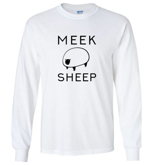 Meek Sheep Logo Youth Long Sleeve T-Shirt