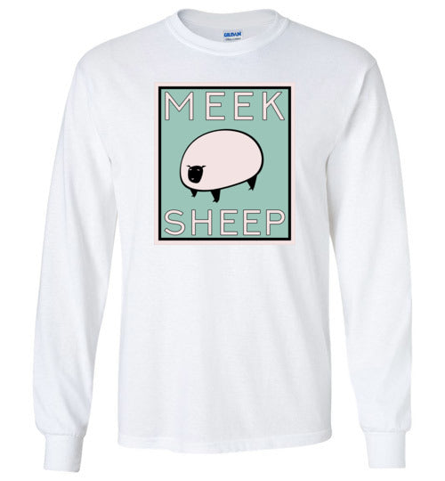 Vintage Meek Sheep Youth Long Sleeve T-Shirt