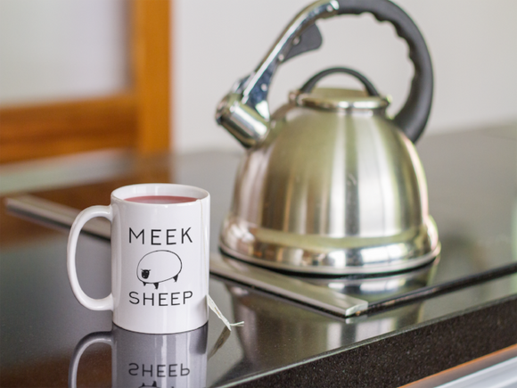 Meek Sheep Logo Christian Coffee Mugs | Tea Mugs | Christian Gifts