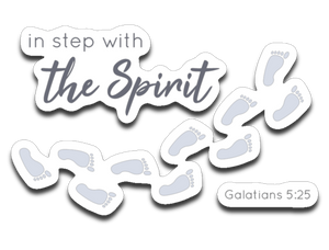 In Step With The Spirit Bumper | Laptop | Notebook Stickers