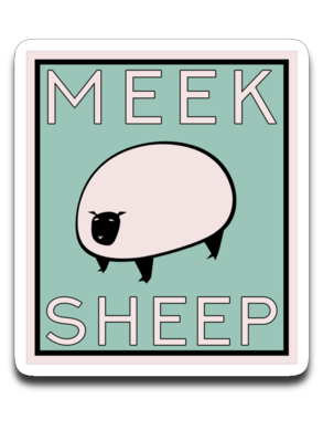 Vintage Meek Sheep Bumper | Laptop | Notebook Stickers