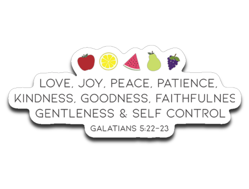 Fruit of the Spirit Bumper | Laptop | Notebook Stickers