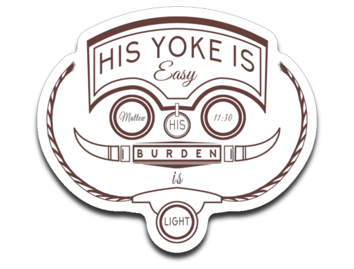 His Yoke Is Easy Bumper | Laptop | Notebook Stickers