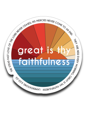 Great is thy Faithfulness Bumper | Laptop | Notebook Stickers