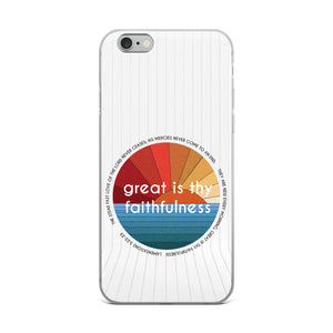 Great is thy Faithfulness Christian iPhone Case | Christian iPhone Cover