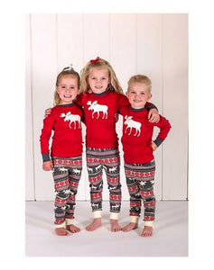 Family Pajamas Set Moose Christmas