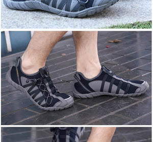 Men Running Shoes Lace Up Athletic Shoes