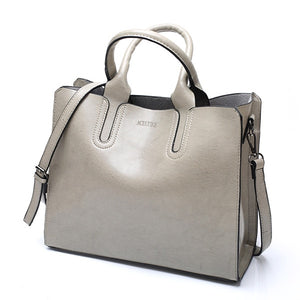 Leather Handbags Big Women Bag