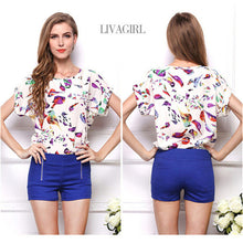 Load image into Gallery viewer, Blouse Summer Short Sleeve Women