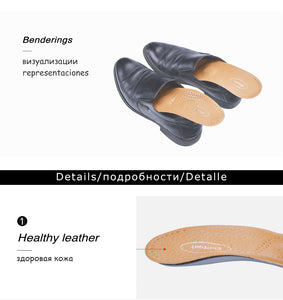 healthy Leather orthotic insole for Flatfoot High Arch Support