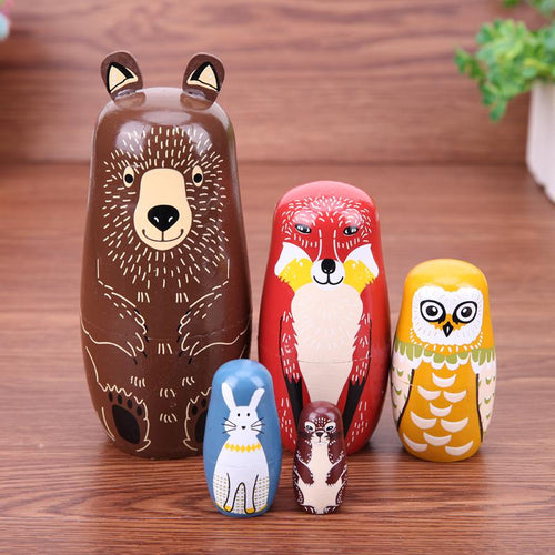 Handmade Basswood Nesting Dolls Set