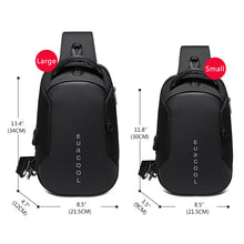 Load image into Gallery viewer, Multifunction Crossbody Bags Men USB Charging