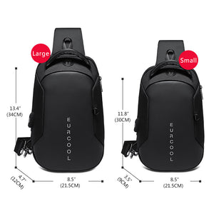 Multifunction Crossbody Bags Men USB Charging