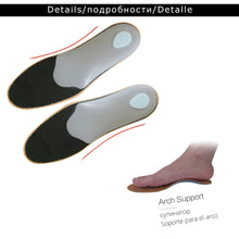 Load image into Gallery viewer, healthy Leather orthotic insole for Flatfoot High Arch Support