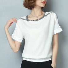 Load image into Gallery viewer, blouse short sleeve women tops chiffon