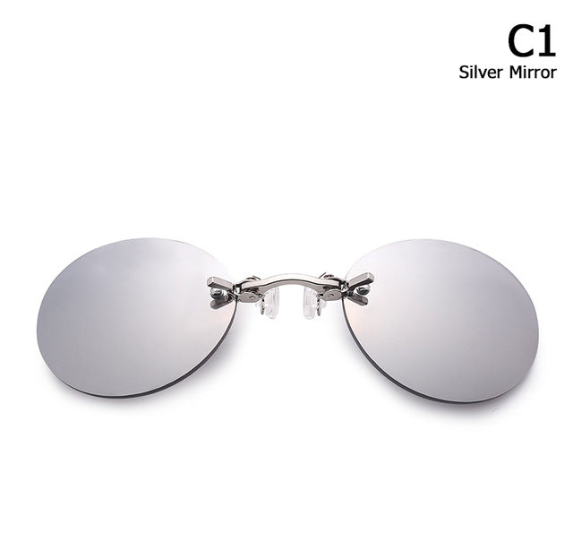 Sunglasses Men Brand Design Clamp Nose