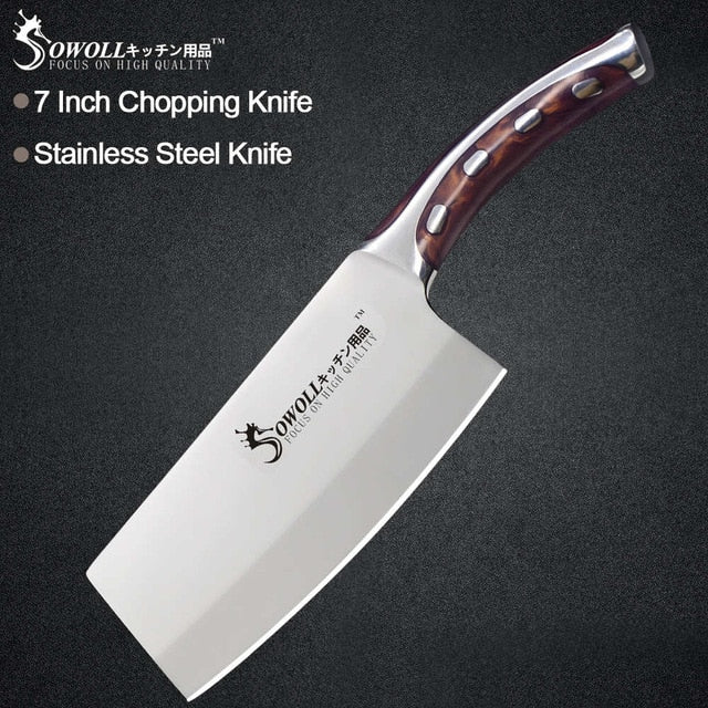 Steel Knife Seamless  Fibre Handle High Carbon