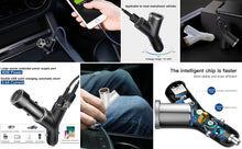 Load image into Gallery viewer, Charger Dual USB + Cigarette Lighter